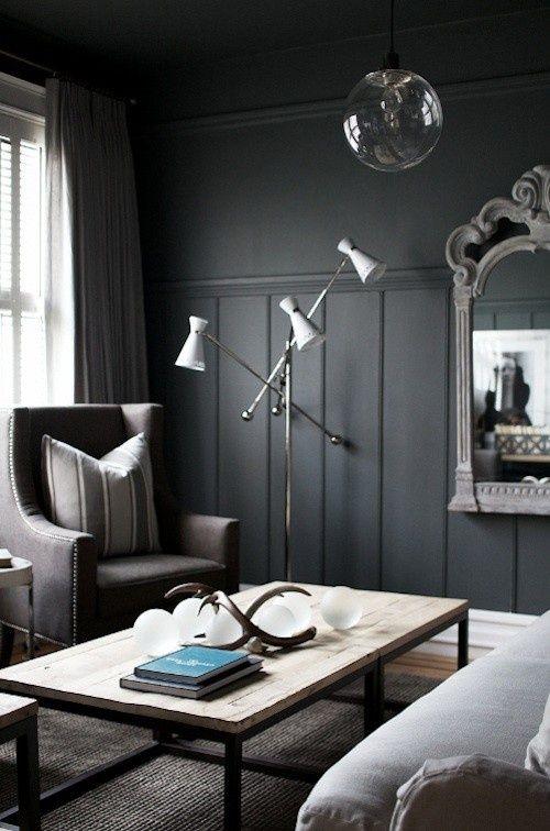 Des murs gris foncés. #dark #grey #walls