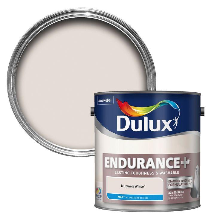 Dulux Endurance Nutmeg White Matt Emulsion Paint 2.5L | Departments | DIY at B&Q