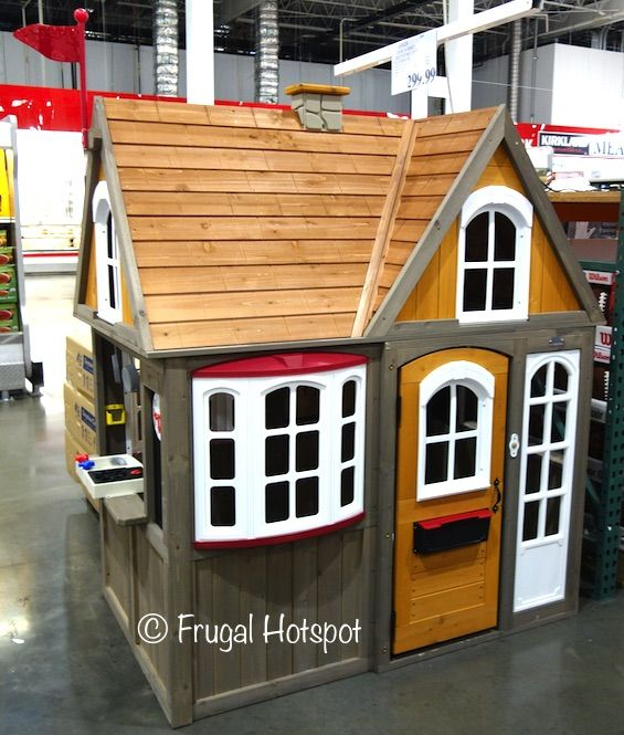 Costco Cedar Summit Greystone Cottage Playhouse 299 99 Play Houses Country Cottage Decor Kids Playhouse