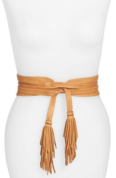 B-Low the Belt 'Ana' Leather Tassel Obi Belt available at #Nordstrom