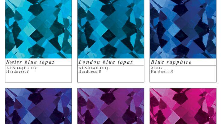 Pick a colour! Swiss blue topaz, london blue topaz, blue sapphire, tanzanite, amethyst and rubellite.