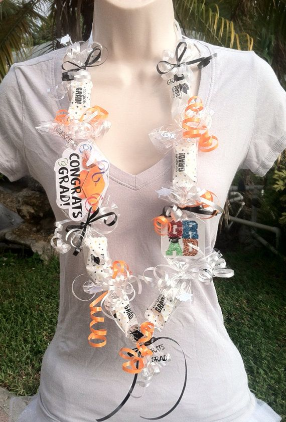 Congrats Grad Lei/ graduation/candy lei/favors by KandyLei on Etsy