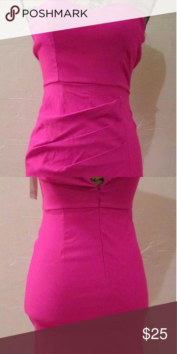Hot Pink Mini dress Super Sexy!! Never Worn, Tried on, I'm a little too big in the bottom. Tobi Dresses Mini