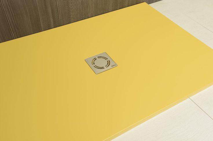 FLEXIA podlaha z litého mramoru 160x90x3cm, RAL1002, SAPHO E-shop