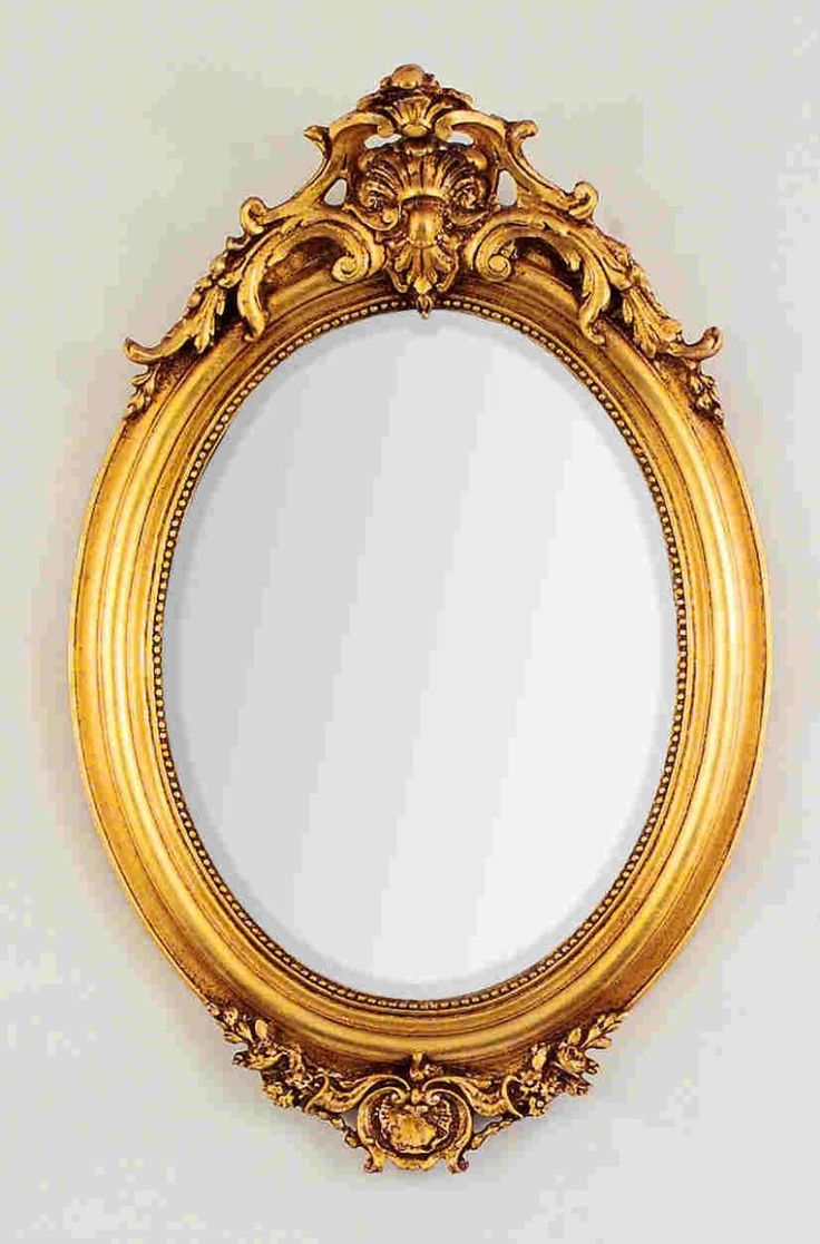 17 images about gold frames on pinterest oval frame for Fancy oval mirror