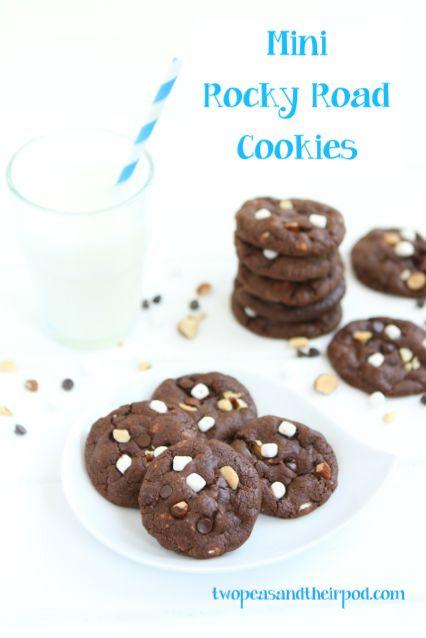 Mini Rocky Road CookiesMinis Rocky, Health Food, Cake Recipe, Minis Dog Qu, Minis Cookies Recipe, Ice Cream, Rockyroad, Rocky Roads Cookies, Sweets Tooth