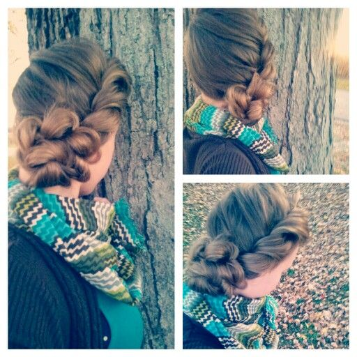 Simple loose twist braid and bun! it was really easy to do and simple but cute! #Apostolichair#twistbraid