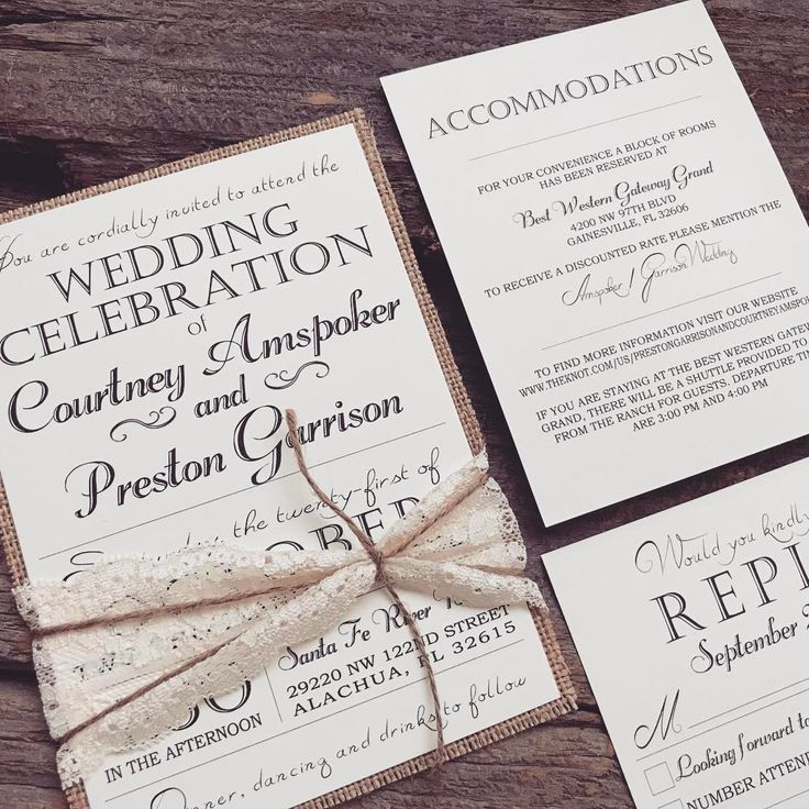 diy rustic wedding invitations burlap%0A Elegant wedding invitation  rustic wedding invitation  vintage wedding  invitation  burlap wedding invitation