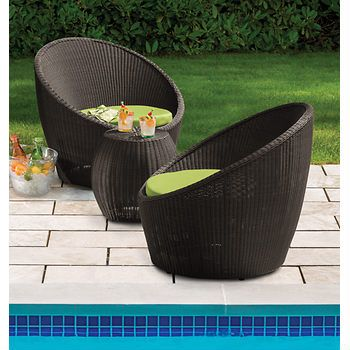 Berkley jensen antigua wicker 3 piece set brown bj 39 s for Antigua wicker chaise