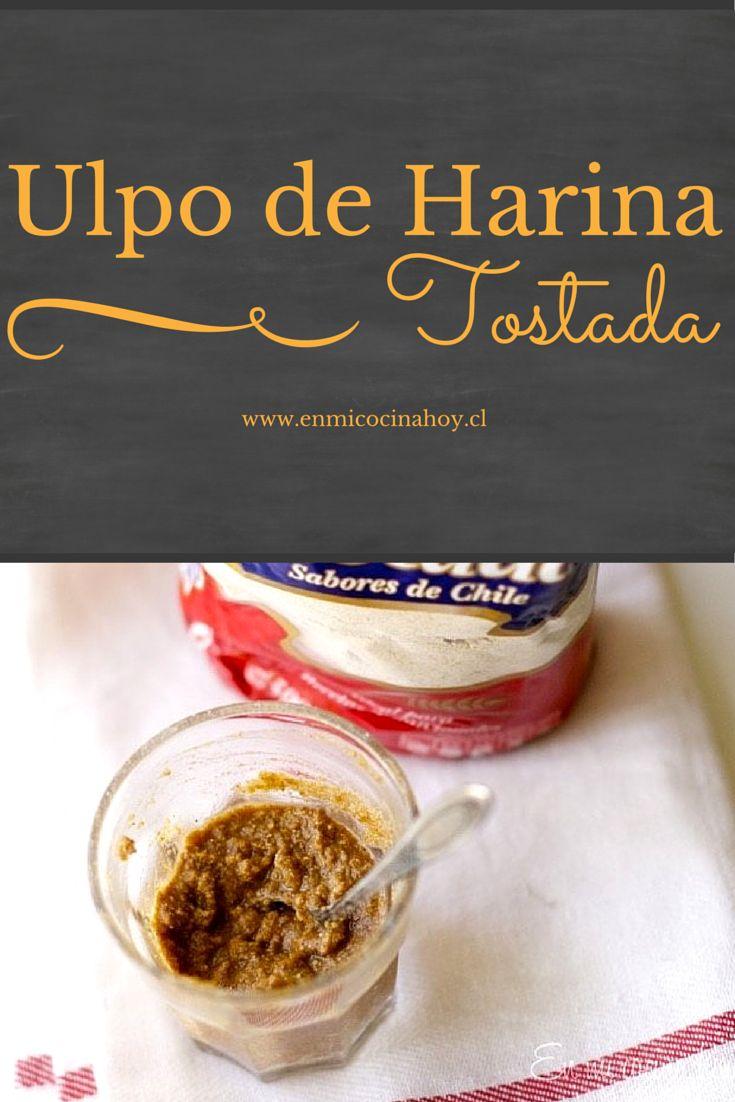 El ulpo es una bebida chilena hecha con leche o agua con harina tostada y azúcar. Muy antiguo, ya casi no se consume, era un snack tradicional.