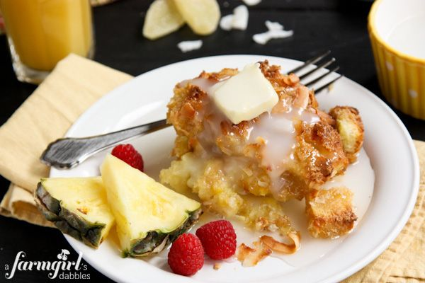 Overnight Coconut-Ginger Baked French Toast - Pioneer Woman and www.afarmgirlsdabbles.com