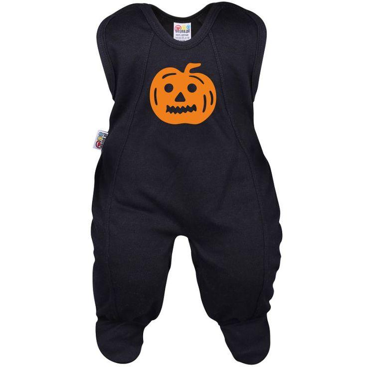 Grenouillère bébé : citrouille - Pour Halloween - Family In Black