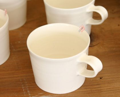 石川若彦 粉引マグカップ