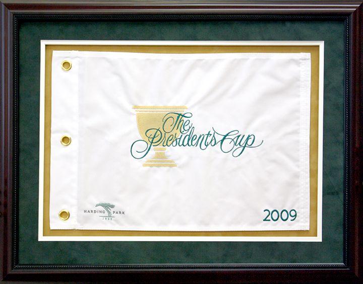 Custom Framed Golf Flag From The 2009 President S Cup