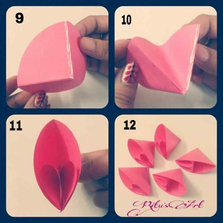 Différentes fleurs en origami 10