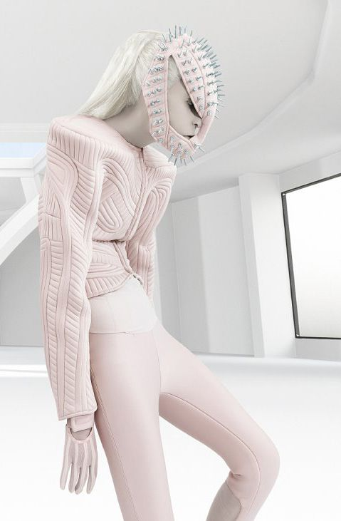 pale Pink and punk (studded) #fashion #editorial #pastel