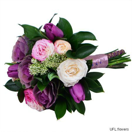Bouquet «Pink-and-purple»