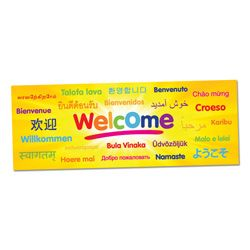 Welcome Languages Wall Graphic  The Welcome Languages Wall Graphic can be used in your school foyer, library or classroom to welcome students into your learning space.