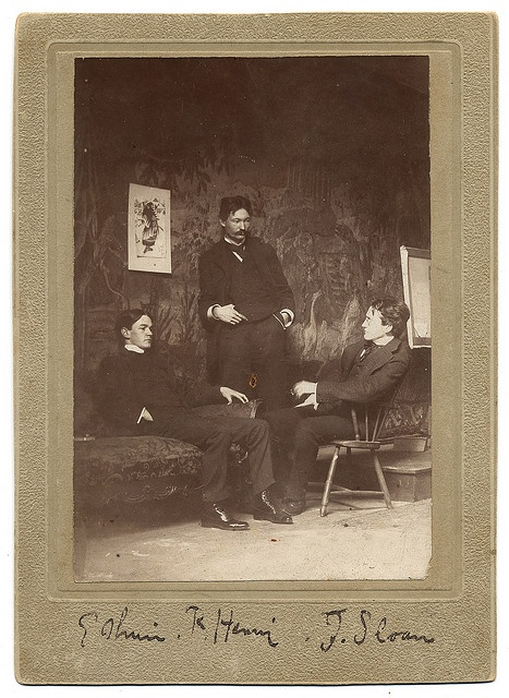 Everett Shinn, Robert Henri, and John Sloan by Smithsonian Institution, via Flickr