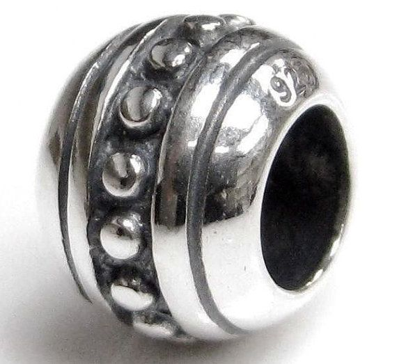 925 sterling silver bead charm/Fits european style by Emmalishop