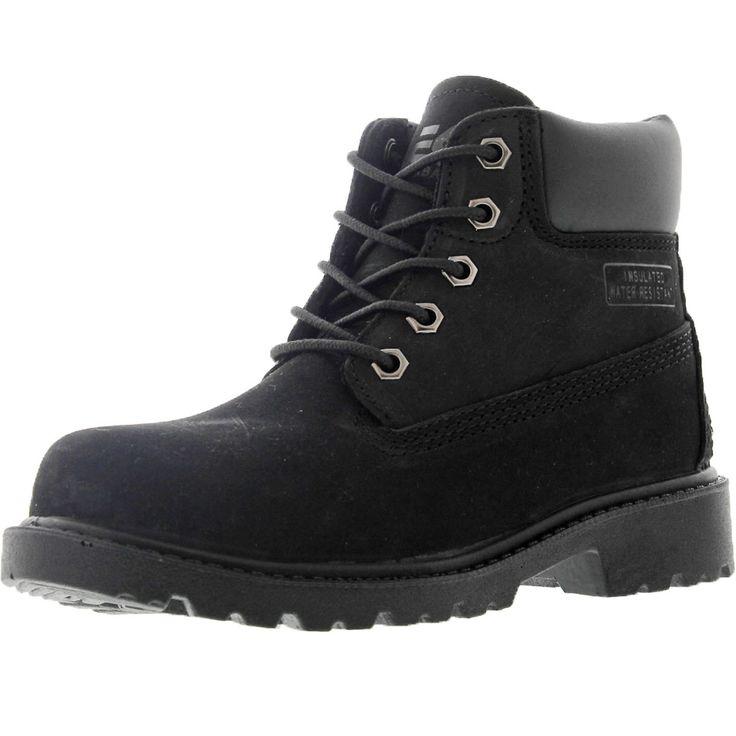 Eurbak - Boy's 6 Inch Waterproof Hiking Boot (Little Kid) - Black