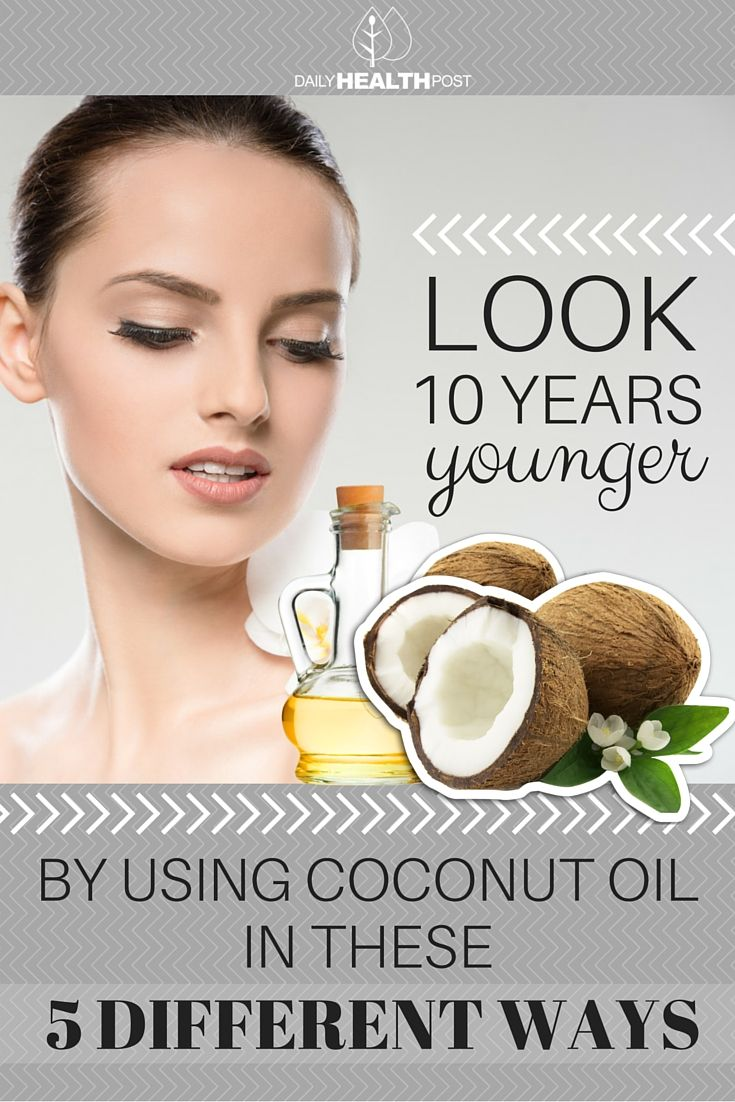 Look 10 Years Younger By Using Coconut Oil In These 5 Different Ways via @dailyhealthpost - http://dailyhealthpost.com/5-ways-to-nourish-your-skin-and-look-younger-using-coconut-oil/