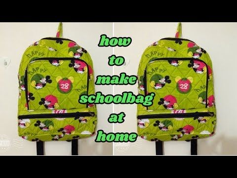 school bag make at home in Hindi/how to make school bag at home/magical hands/ - YouTube
