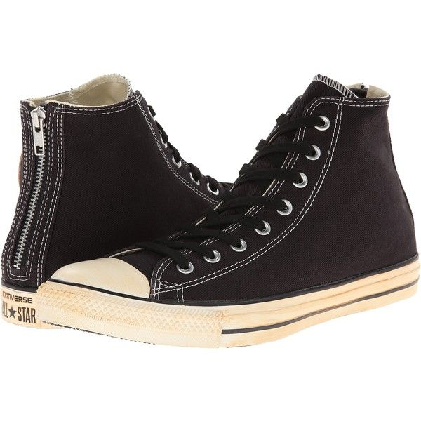 Converse Chuck Taylor All Star Vintage Washed Twill Back Zip Hi Lace... ($33) ❤ liked on Polyvore