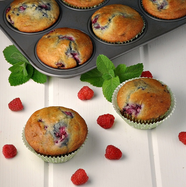 Limone Lampone Muffins