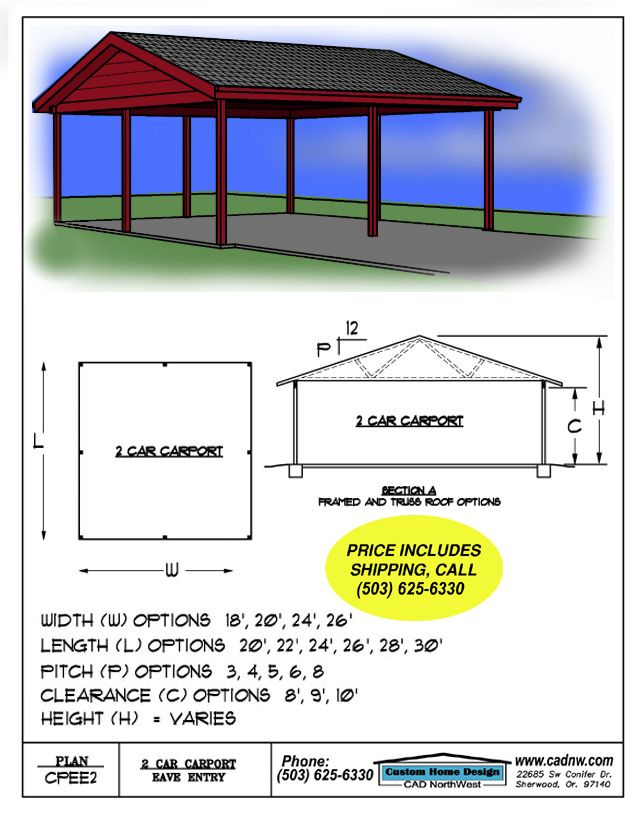 57 best house plans images on pinterest country homes for Hip roof carport plans