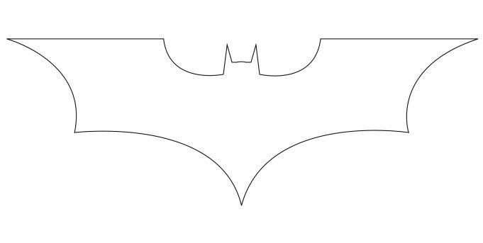 Line Art Logo Tutorial : How to draw the batman logo logos and o