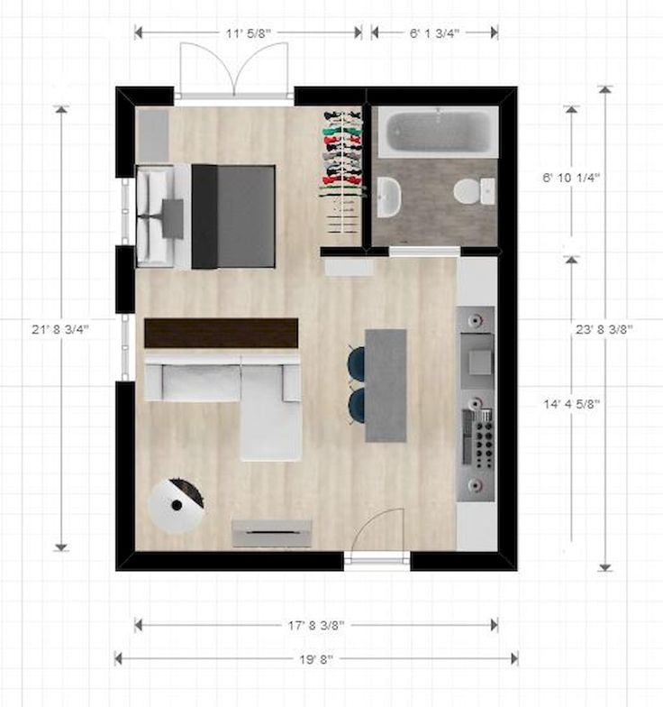 Best 25+ Small apartment plans ideas on Pinterest | Small apartment layout, Small  apartment bedrooms and Apartment layout