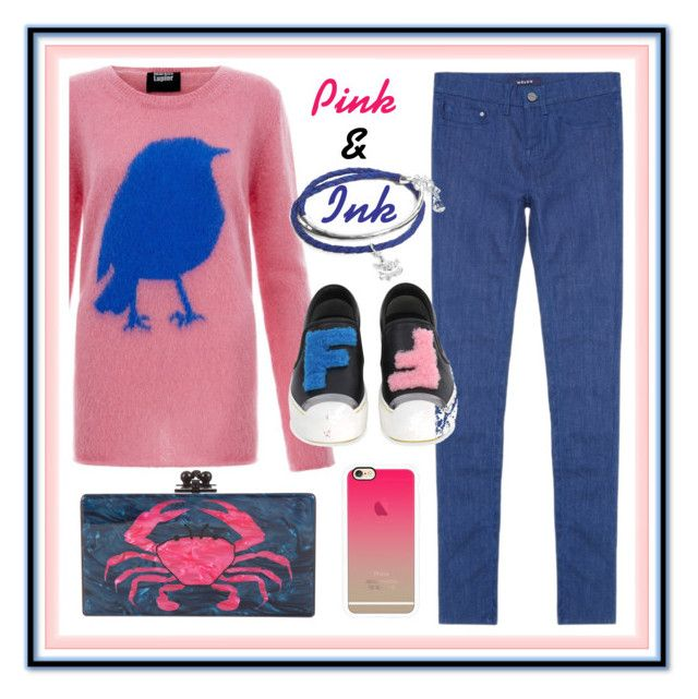 Pink & Ink by amisha73 on Polyvore featuring moda, Markus Lupfer, Lipsy, Fendi, Edie Parker, Vera Bradley and Casetify