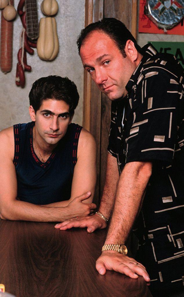 James Gandolfini, Michael Imperioli, The Sopranos...Love this. Used to have the biggest crush on Michael Imperioli