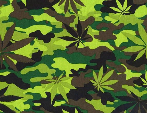 Marijuana Leaves Weed Cannabis Camouflage Pot Timeless by UniqueDesignsByJulie on Etsy