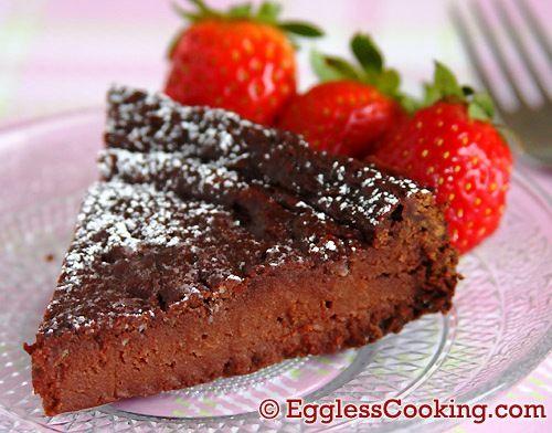 Flourless Vegan Chocolate Cake Recipe
