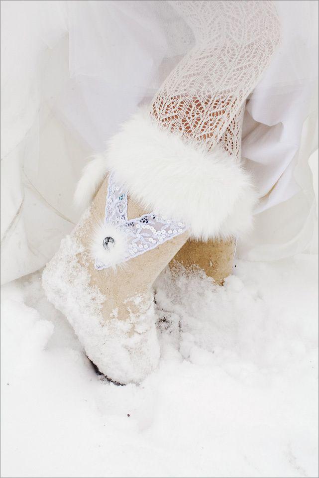 Валеночки невесты), Фото отчёты о свадьбах, Свадебная обувь для невесты