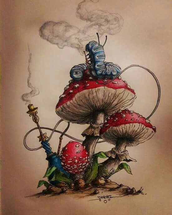 Alice in wonderland – mushroom