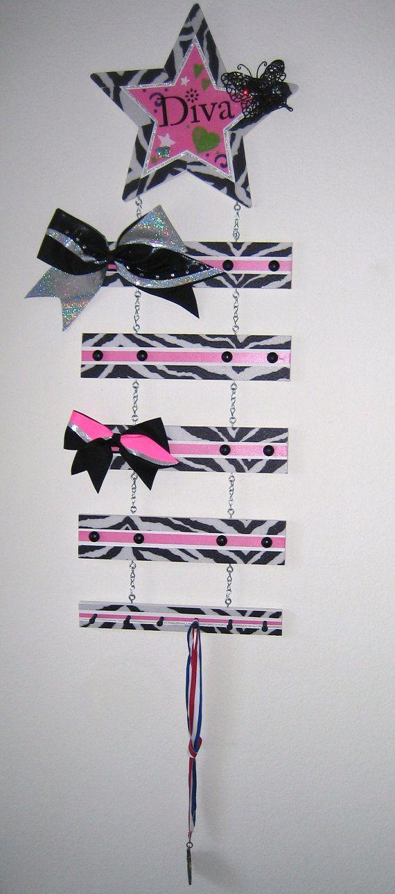 Custom Cheer Bow Displays on Etsy, $50.00