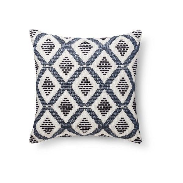 Blue/Tan Diamond Oversized Throw Pillow - Threshold™ : Target ($25) via Polyvore featuring home, home decor, throw pillows, blue home accessories, oversized throw pillows, blue accent pillows, taupe throw pillows and blue throw pillows