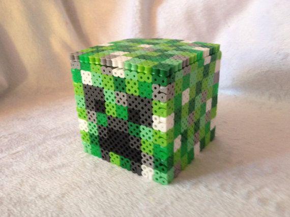 17 best images about hama minecraft perler bead creeper box minecraft perler beads by superkawaiistudios
