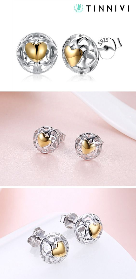 Tinnivi Hollow Out Heart Sterling Silver Stud Earrings Online Jewelry Creates Quality Fine At Gorgeous Prices Now