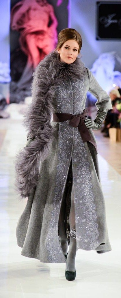 I love the coat, it's gorgeous……    Russian style by Igor Gulyaev, a fashion designer from Moscow.