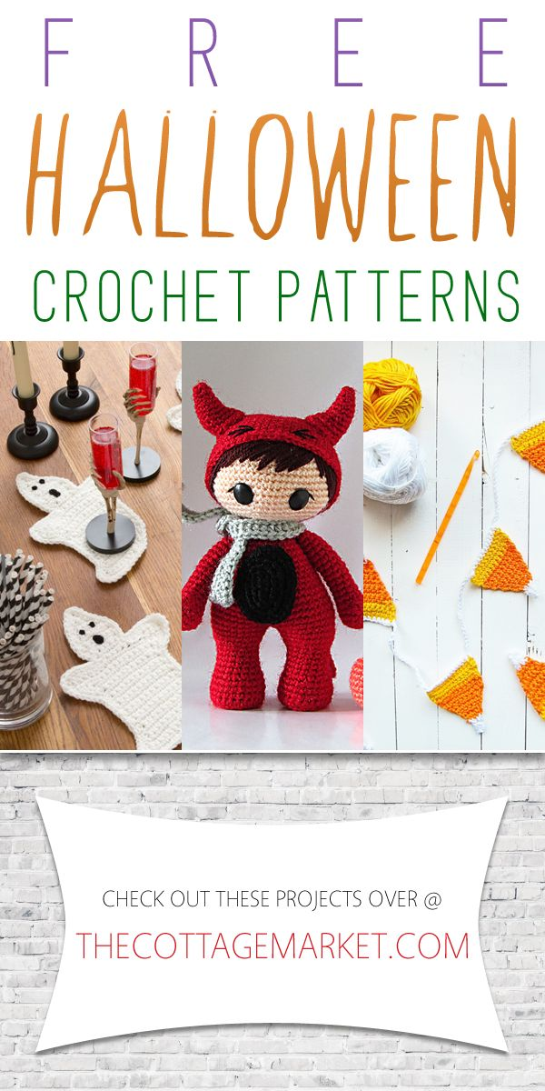 If you love to crochet...if you love Halloween and if you love FREE...you are going to go crazy over these Free Halloween Crochet Patterns!!!