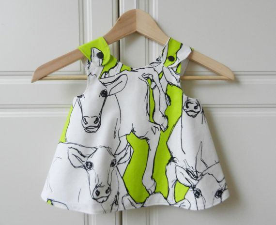 "Baby Girl Dress Marimekko Fabric ""iltavilli"""