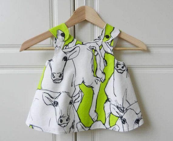 "Baby Girl Dress Marimekko Fabric ""iltavilli"""