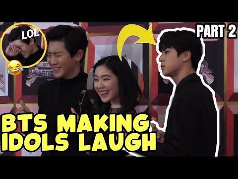 Bts Making Kpop Idols Laugh Part 2 Bts Funny Moments Youtube In 2020 Bts Funny Moments Bts Funny Funny Moments