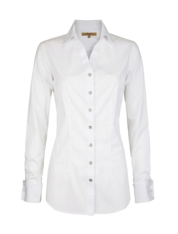 A long sleeve fitted shirt with wing collar and pleat detail .dubarry