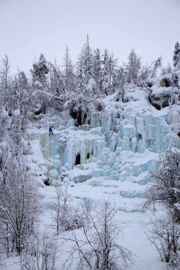 Korouoman upea jääputous, Mammutti, Posio Finland.