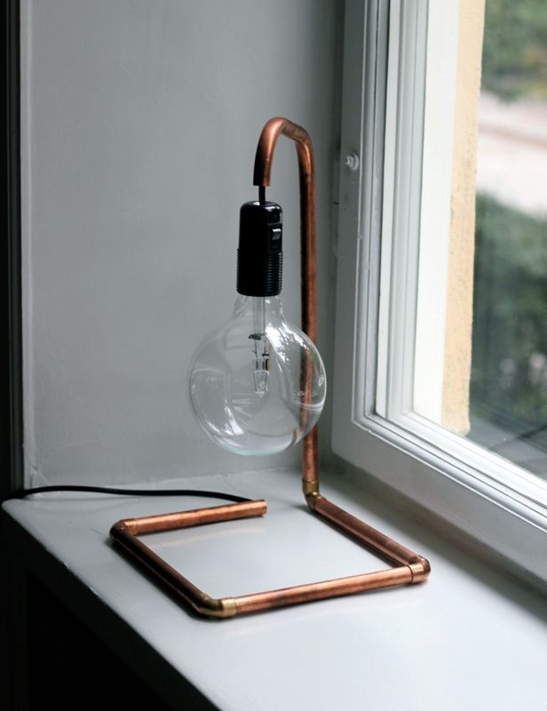DIY Copper Pipe Lamp at An Interior Affair